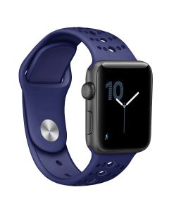Apple watch apple watch strap, two-color silicone porous wristband