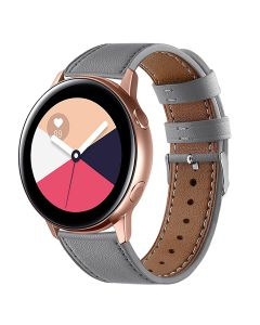 Samsung Galaxy Watch Active smart watch, first layer cowhide round tail leather strap