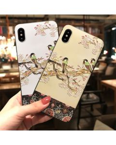 Ruyifu bird embossed mobile phone protective cover for iphone, wholesale soft protective shell