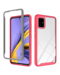 Anti-drop mobile phone case, two-in-one mobile phone case with upper and lower cover frame for Samsung a71
