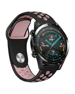 Huawei Watch GT/GT2/GT2E strap, 46mm two-tone silicone sports strap