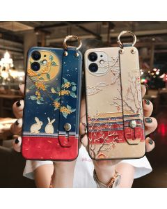 Embossed mobile phone case couple cartoon soft protective cover for Xiaomi iphone