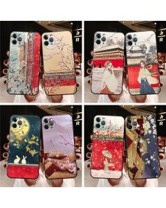 Original embossed phone case, painted phone case for Apple Huawei