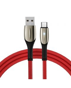 1M 3A Zinc Alloy USB Cable with Light